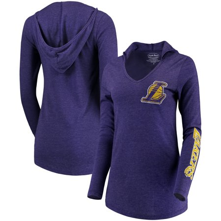 Los Angeles Lakers Majestic Threads Women's Tri-Blend V-Neck Pullover Hoodie - Purple ()