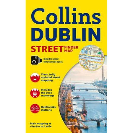 Collins Dublin Streetfinder Colour - 1929 Colour Map