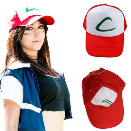 Monster University Hat (Anime Cosplay Pokemon Pocket Monster Ash Ketchum Baseball Trainer Cap Casual)