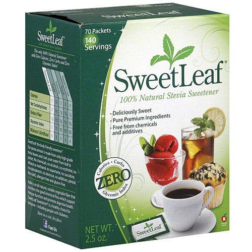 Sweetleaf 100% Natural Stevia Sweetener, 70ct (Pack of 12)