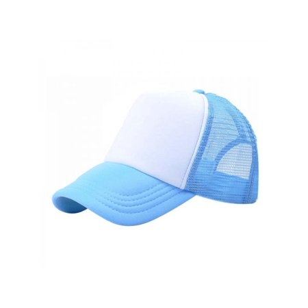 Baby Boy Girl Plain Baseball Caps Stitching Trucker Mesh Visor Adjustable Hats