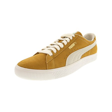 c201b7534fca Puma - Puma Men s Suede 90681 Honey Mustard   White Ankle-High Fashion  Sneaker - 10.5M - Walmart.com
