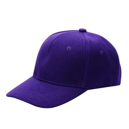 Unisex Plain Baseball Caps Curved Visor Hat Hip-Hop Adjustable Peaked Solid Color