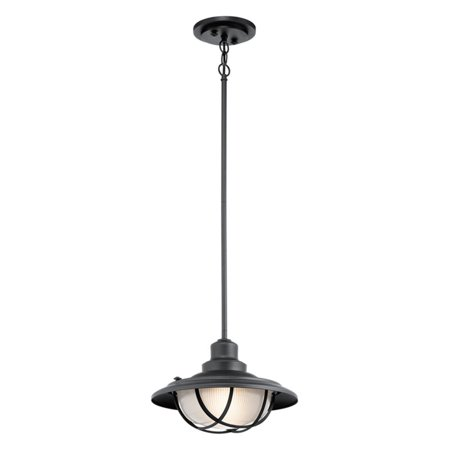 Harvest Mini Pendant - Kichler Harvest Ridge 49695BKT Outdoor Pendant Light