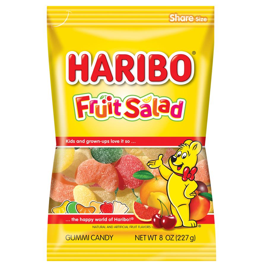 (3 Pack) Haribo, Fruit Salad Gummi Candy, 8 Oz