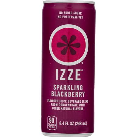 Izze Sparkling Juice, Blackberry, 8.4 Fl Oz, 24 Count