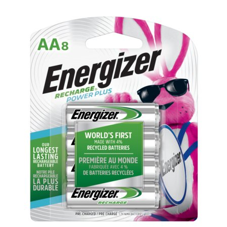 Energizer Recharge Power Plus Rechargeable AA Batteries, 8 - Nicad Recharger