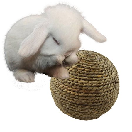 Pet Chewing Toy Natural Grass Ball for Rabbit Hamster Small Rodents Teeth Grinding Cleaning Toy Supplies