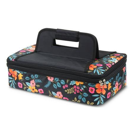 Zodaca Fashion Marion Floral Print Double Casserole Insulated Carrier Bag - image 2 de 4