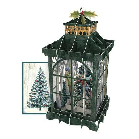 Christmas Lantern 3D Pop Up Christmas Card (Best Cad Program For 3d Printing)