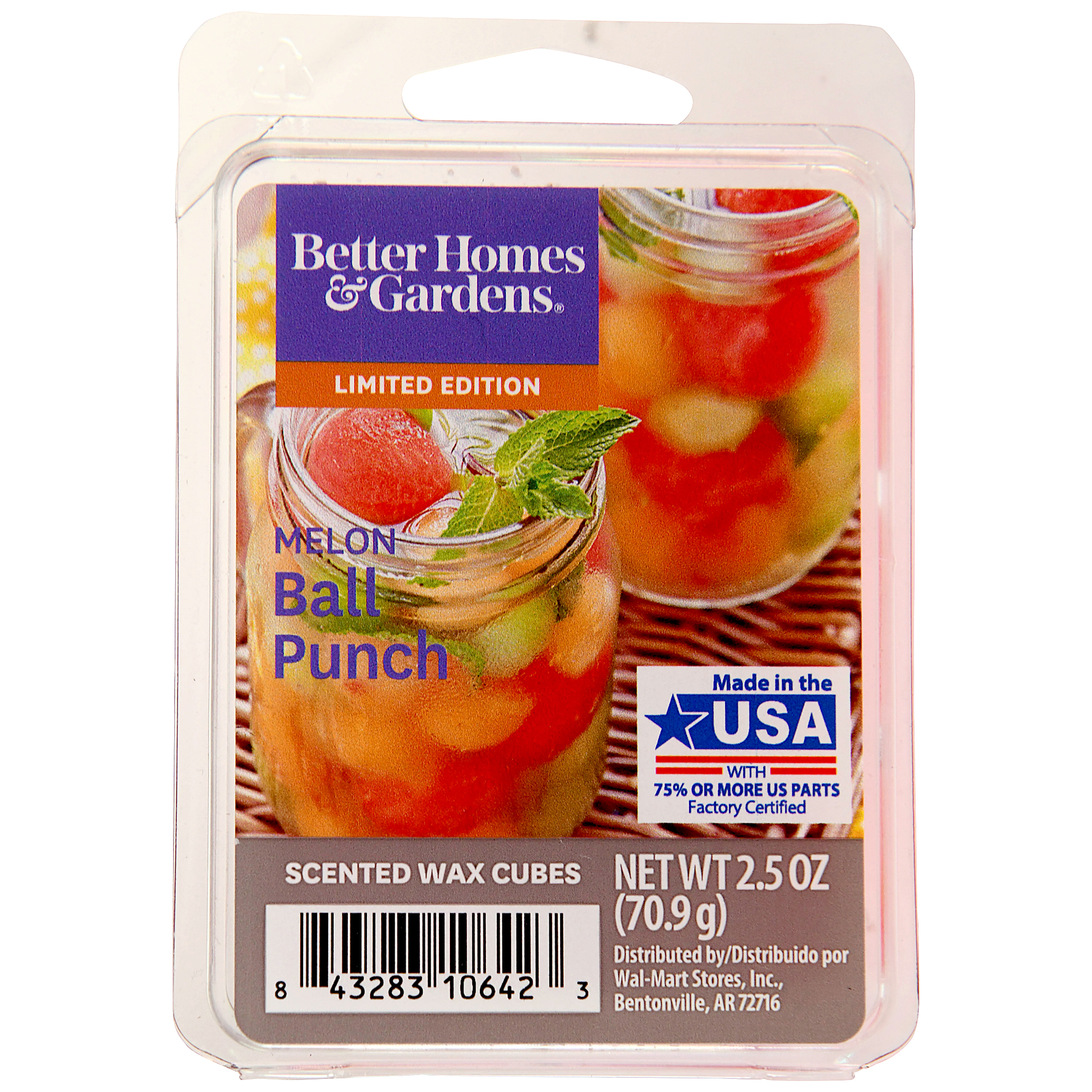 3oz Fruity Scent Watermelon wax melts 6 wax cubes Watermelon Soy Wax Melts