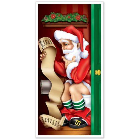 The Holiday Aisle Santa Restroom Door Cover