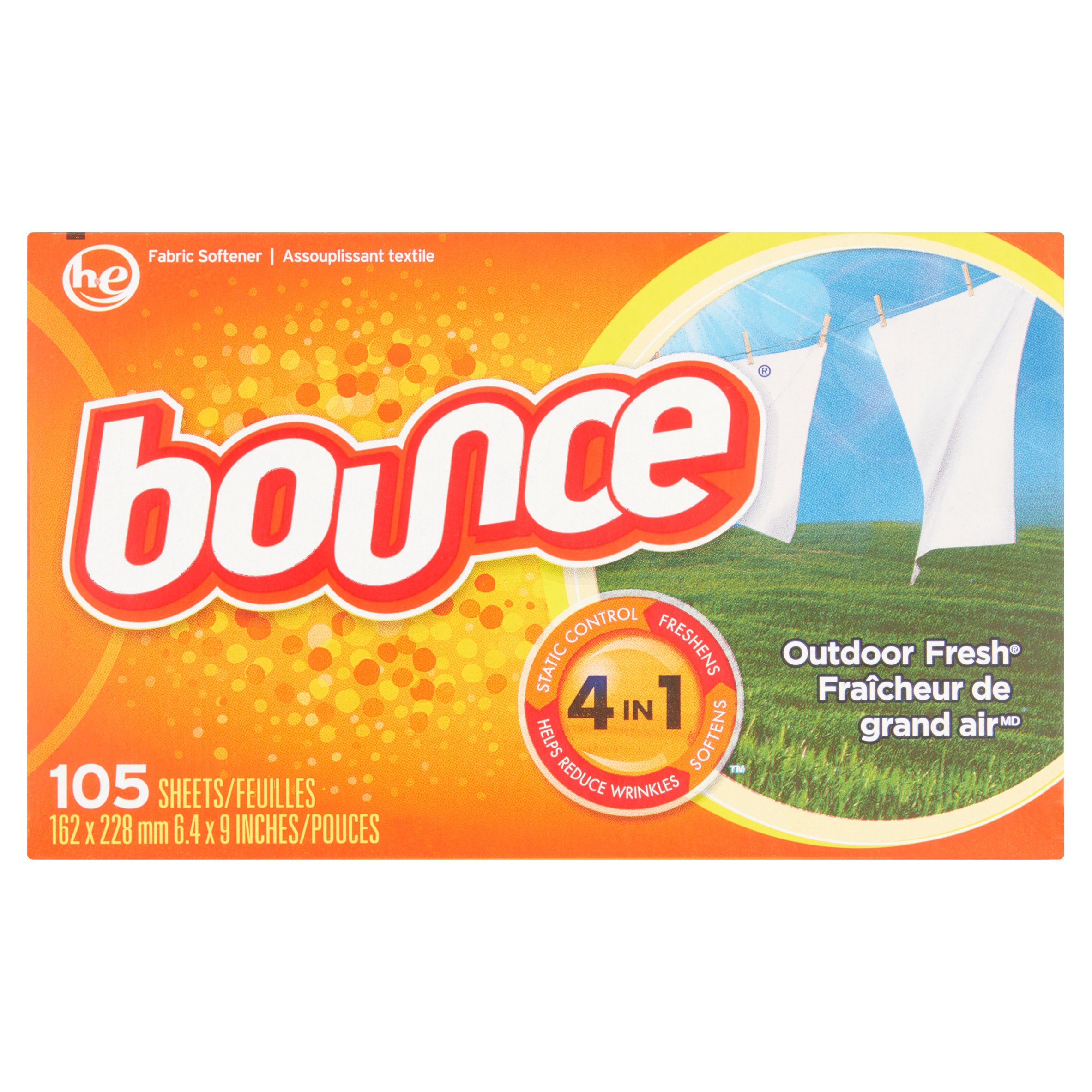 Bounce Outdoor Fresh Fabric Softener 105 Sheets