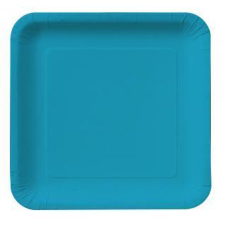 Creative Converting Turquoise Blue Paper Plates, 18