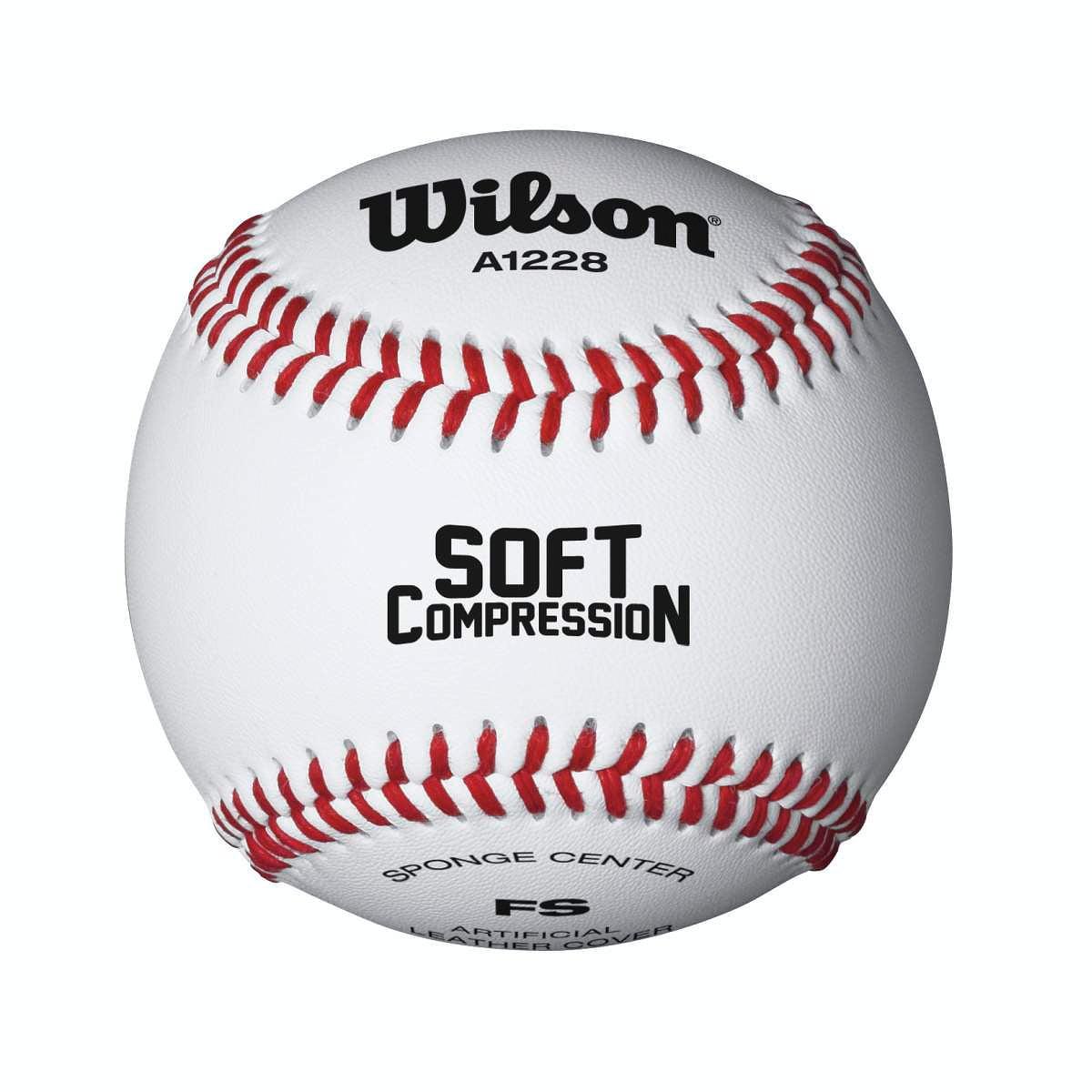 "Wilson A1228 One Dozen 9"" Soft Compression Baseballs"