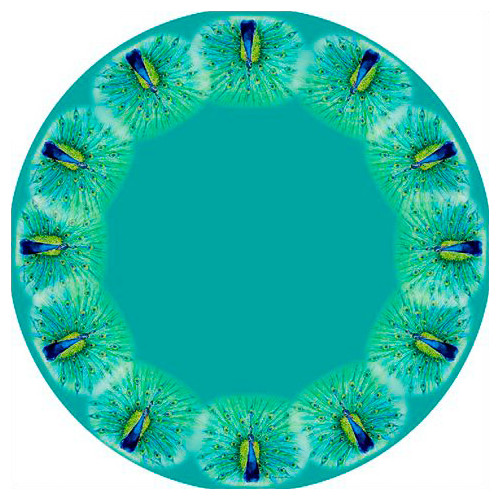 Betsy Drake Interiors Peacock Round Tablecloth