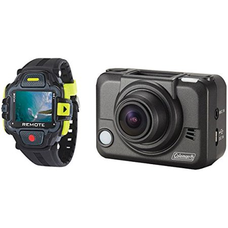 Coleman Bravo2 CX12WP+LCD 1080p Full HD Wi-Fi Helmet and Action Camcorder with Streaming LCD Watch and Mounts (Streaming Video Cache)
