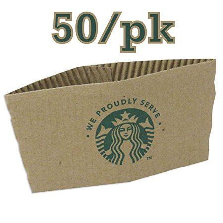 Starbucks Coffee Cup Sleeves, 50 Jackets for Hot Cups, Fits 12, 16 and 20 ounce cups, Recycled and Made in the USA