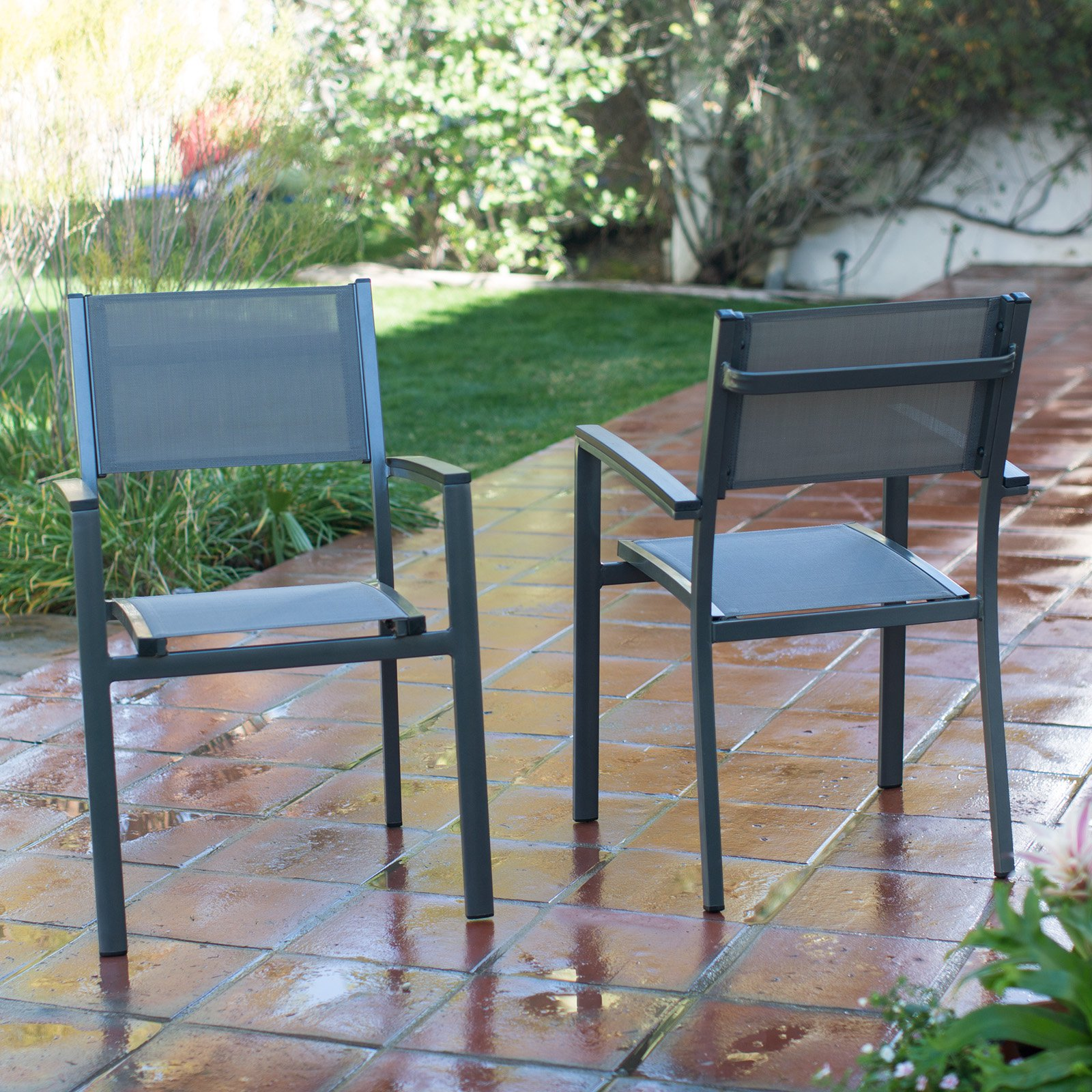 C Coast Whitney Sling Stacking Outdoor Patio Dining Chair