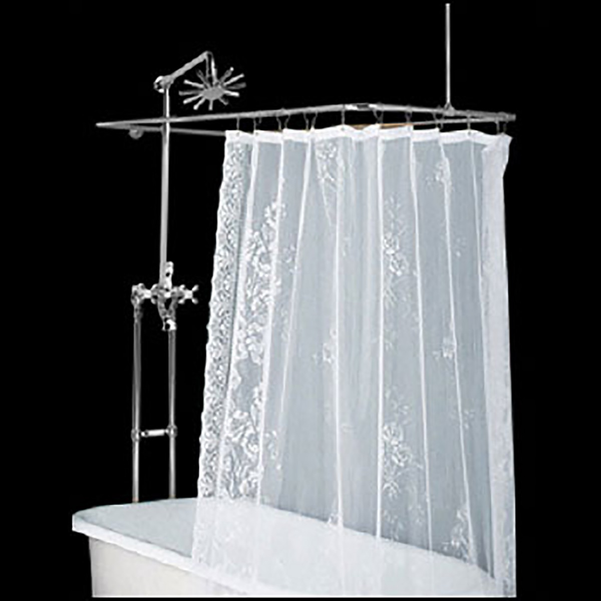 Clawfoot Tub Freestanding Shower Set Rectangular Enclosur...