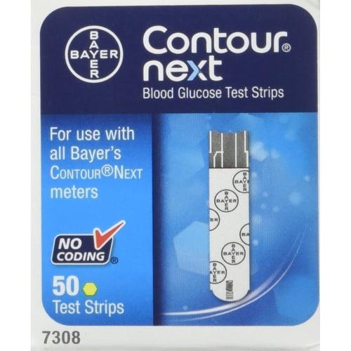 Bayer Contour NEXT Blood Glucose Test Strips, 50 Ct