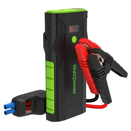 Bolt Power G33A 12V Car Jump Starter 1500A Peak Battery Booster for Gasoline Engines up to 8L, Diesel Engines up to 6.5L, Dual USB Ports and Type-C Portable Power Pack, Built-In LED