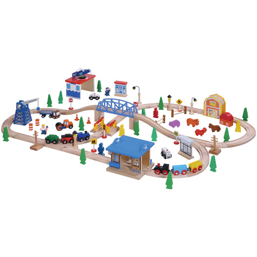 Maxim 100-Piece Wooden Train Set