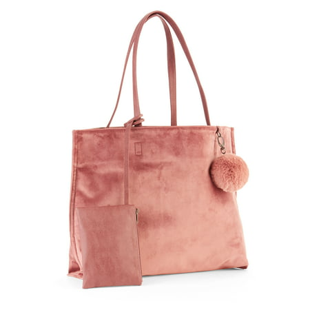 Time and Tru Mauve Velvet Tote