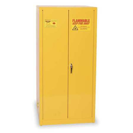 Eagle Flammable Liquid Safety Cabinet, Galvanized Steel, Yellow, 1962