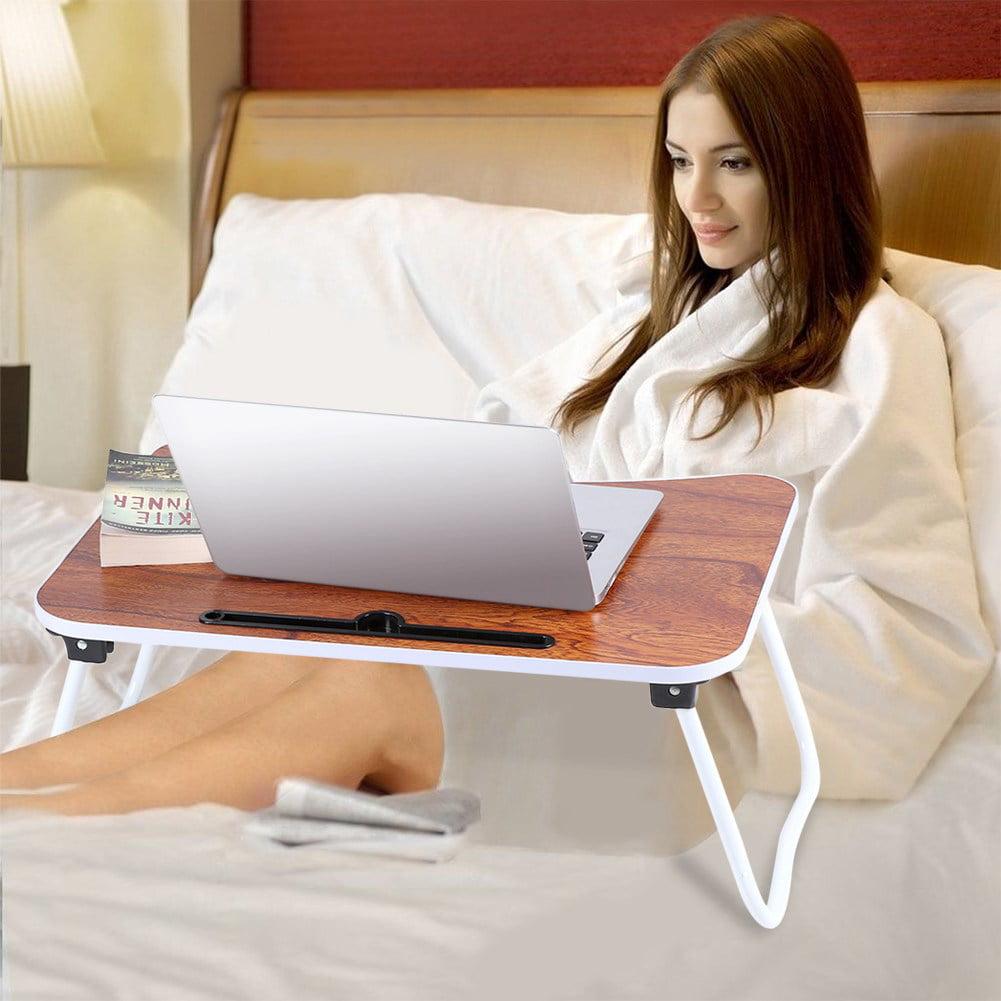 YOSOO Laptop Bed Desk, Multi-purpose Folding Laptop Bed Table Portable Standing Table Breakfast Tray