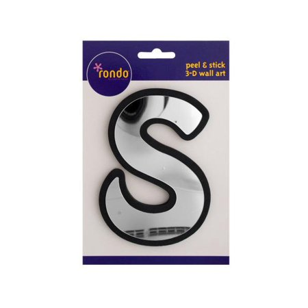 Letter S Peel and Stick Mirror Wall Decor (Peel And Stick Letters)