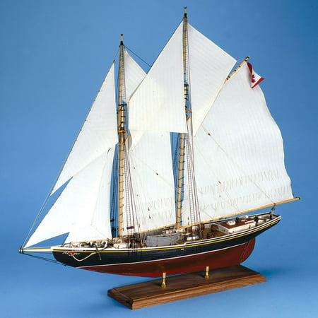 Bluenose Canadian Schooner Wooden Ship Model Kit 1:64 Scale