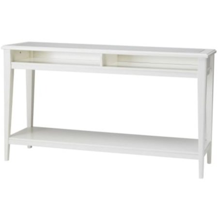 Ikea White Console Table Tempered Glass 224.2172.2618 ()