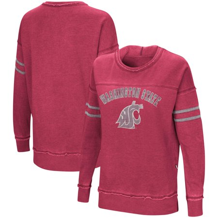 Washington State Cougars Crimson Pullover (Washington State Cougars Colosseum Women's Ambassador of Kwan Pullover Sweatshirt - Crimson )