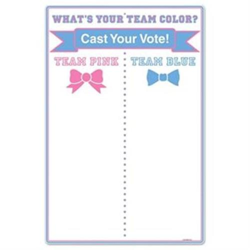 Gender Reveal Team Voting Tally Board (Each) - Baby Shower Party Supplies