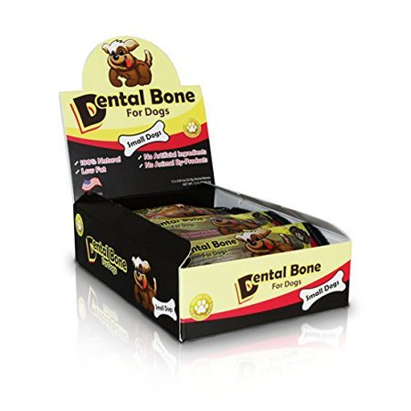 Dr. Mercola Dental Bones for Small Dogs - No Artificial Ingredients Or Animal By-Products - 100% Natural - Low Fat - Completely Digestable - 1 Box (12 Bones)