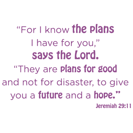 Jeremiah 29 11 For I know the plans I have for Vinyl Decal Sticker Quo