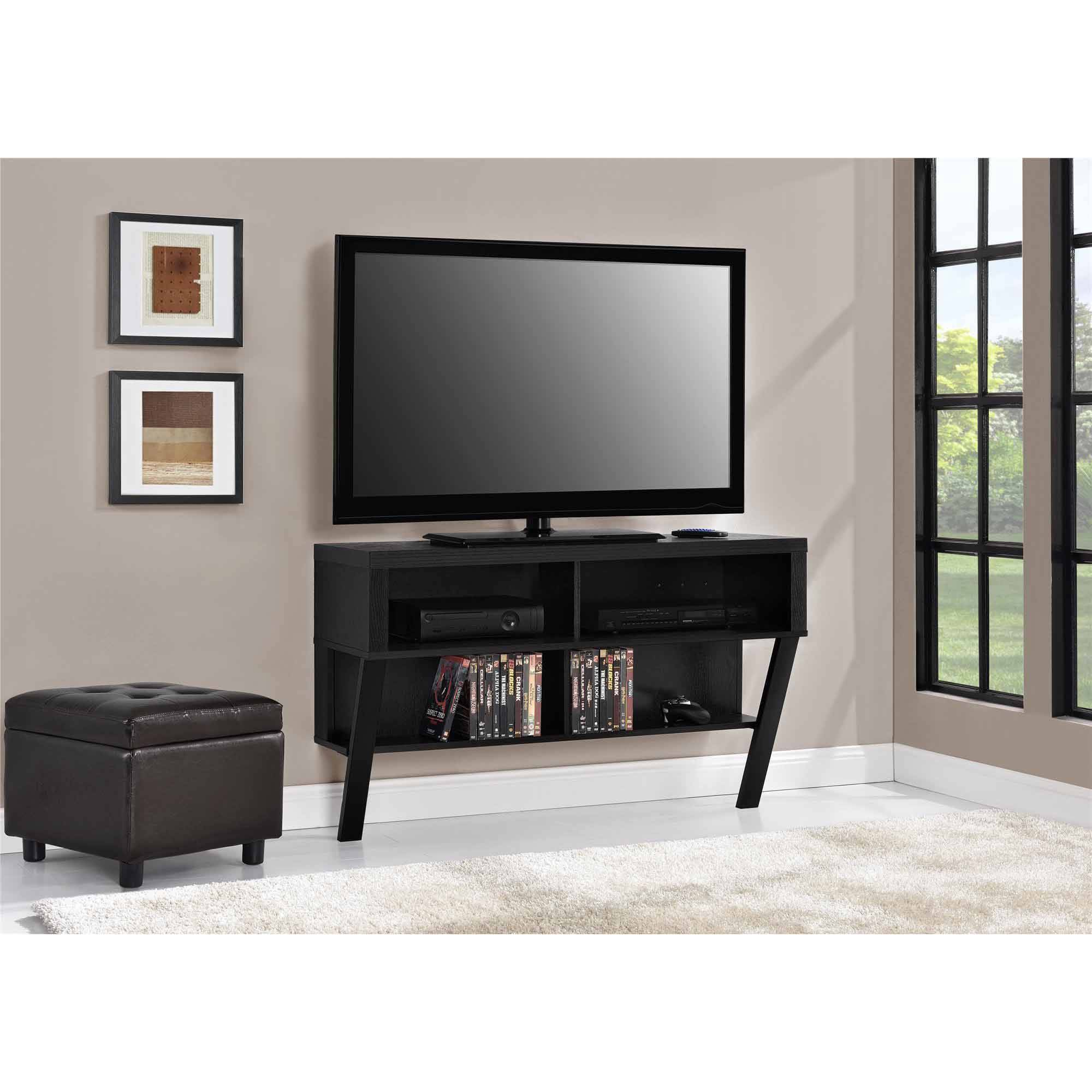"""Altra Wall-Mounted TV Stand for TVs up to 47"""", Black Oak Finish"""