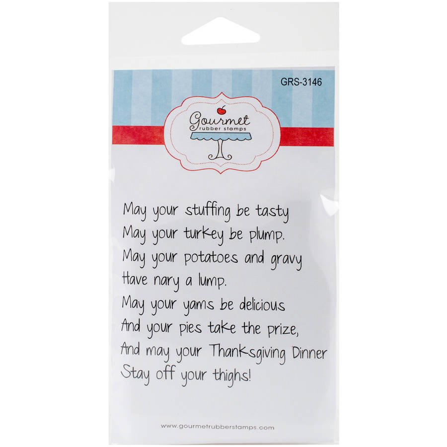 "Gourmet Rubber Stamps Cling Stamps, 2.75"" x 4.75"", May Your Stuffing Be Tasty"