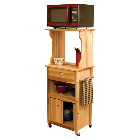 Catskill Craftsmen Kitchen Kitchen Cart - Catskill Craftsmen Hutch Top Cart with Open Storage Microwave Cart