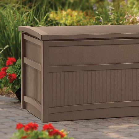Suncast 50 Gallon Capacity Resin Outdoor Patio Storage Deck Box Brown 2 Pack Walmart Canada