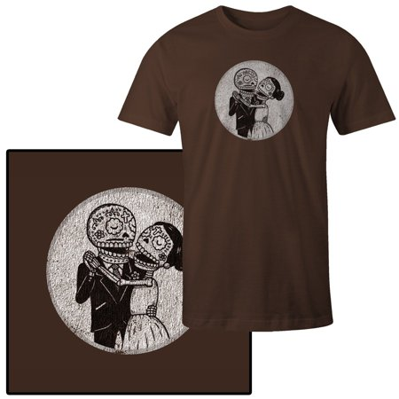 Men's Day of the Dead Marriage Bride and Groom T-Shirt](Dead Bride And Groom)