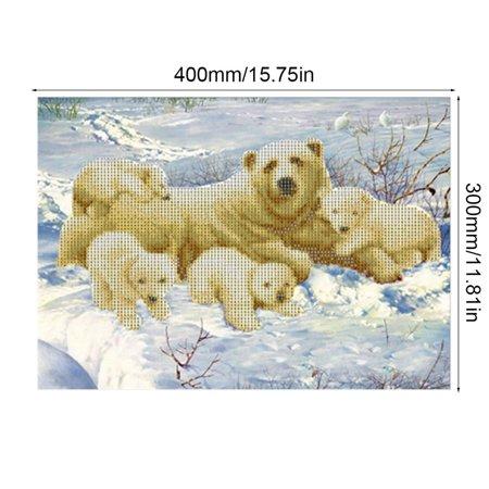 Polar bear 6447 Square Art Painting DIY Handmade Diamond Painting Cross Stitch - image 9 of 9