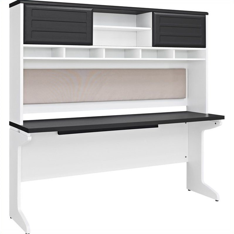 Altra Furniture Pursuit Computer Desk and Hutch Bundle