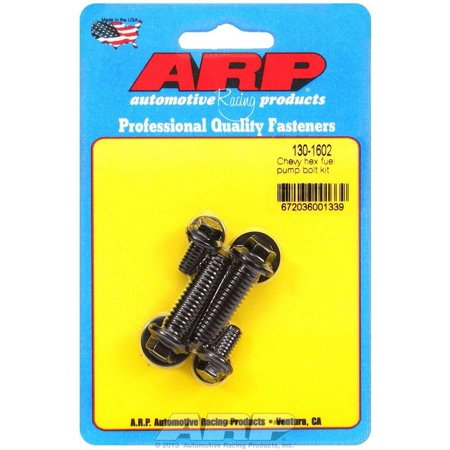 ARP INC. 130-1602 CHEVY HEX FUEL PUMP BOLT KIT (Best Pump Gas For Racing)
