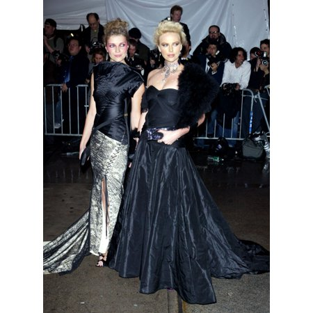 Actress Charlize Theron And Friend Arrive At The Costume Institute Party Of The Year At The Met April 26 2004 In New York City Celebrity - Party City Bayamon