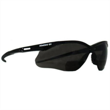 Reading Safety Glasses, Nemesis RX, Black Frame/Smoke Lens, +2.5, Quantity in Order: 1 By (Order Glasses Frames)