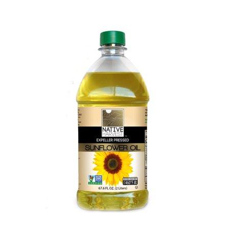 High Oleic Organic Sunflower Oil - Native Harvest Expeller Pressed High Oleic Non-GMO Sunflower Oil, 2 Liters (67.6 FL OZ)