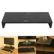 WALFRONT Computer Monitor Riser Desk Table LED TV Stand Shelf Desktop Laptop Organizer US,Desk Table White/Black