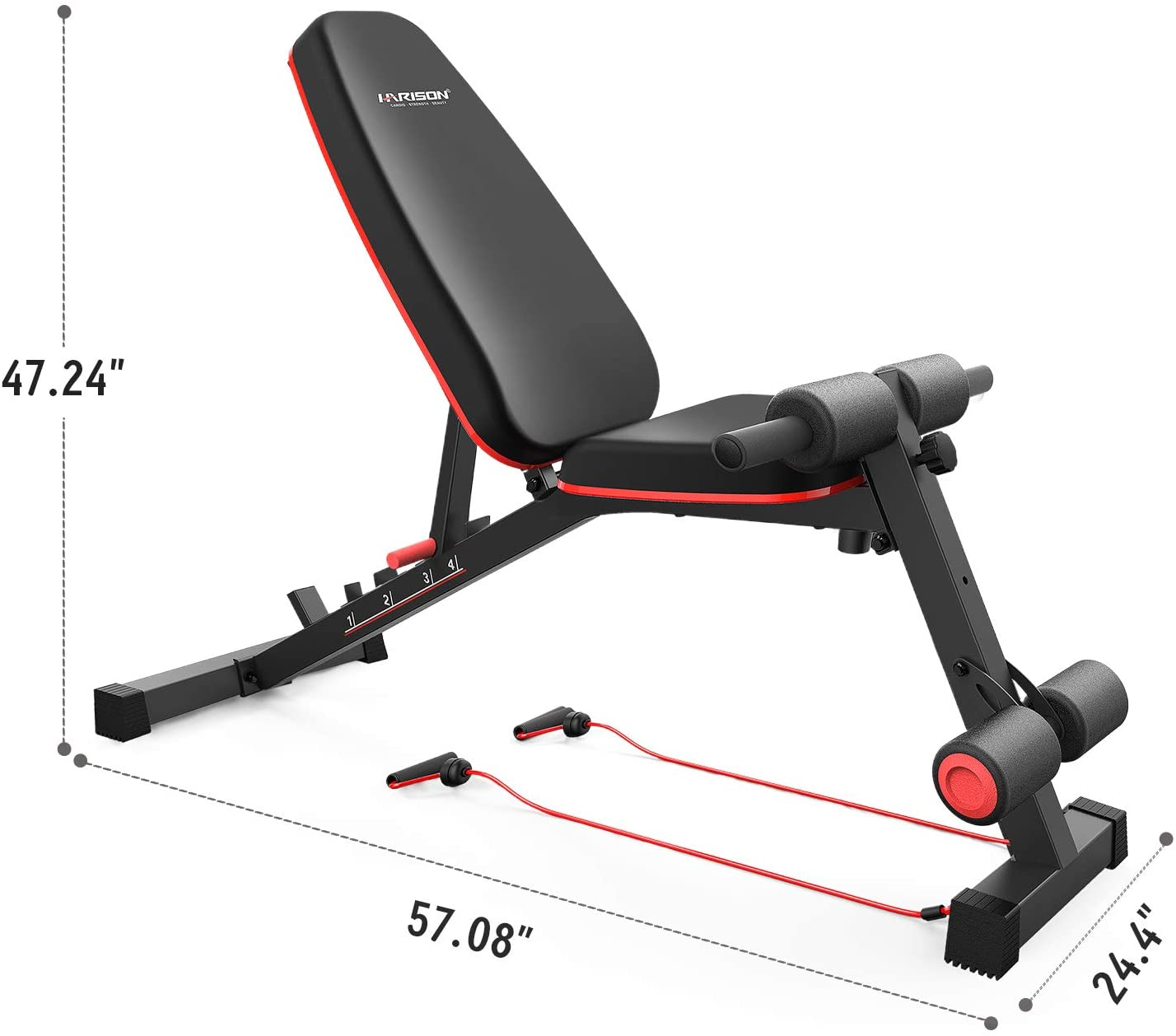 Weight Bench Adjustable Utility Exercise Workout For Home Gym Strength Training